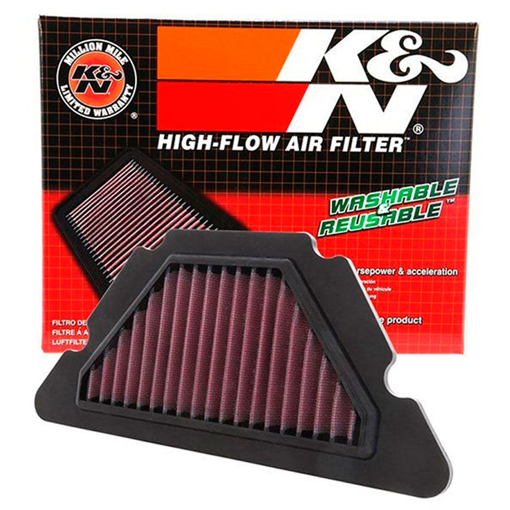 Velas Iridium XJ6 NGK + Filtro de Ar K&N Esportivo Lavável