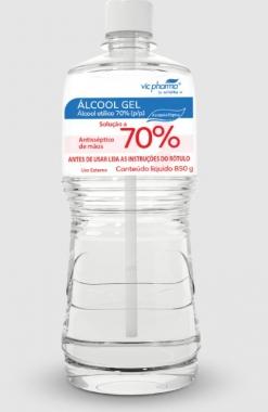 ALCOOL GEL 70% 850 GR - VIC PHARMA