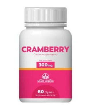 CRANBERRY 60 CAPS 300MG - UNIAO VEGETAL