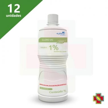 HIPOCLORITO DE SODIO 1% 1 LT VIC PHARMA (12 UNIDADES)