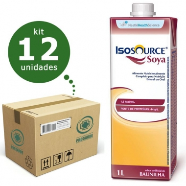 ISOSOURCE SOYA 1.2KCAL/ML 1L (CX C/12) - NESTLÉ