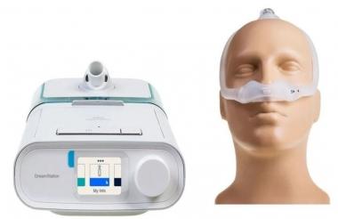 KIT CPAP DREAMSTATION AUTO BIVOLT + UMIDIFICADOR + MÁSCARA DREAMWEAR