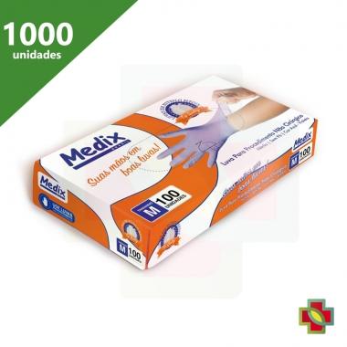 LUVA DE PROCEDIMENTO NITRÍLICA M S/PÓ AZUL VIOLETA (C/1000 UNDS) - MEDIX