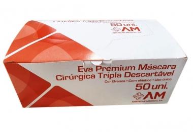 MÁSCARA DESCARTÁVEL TRIPLA BR C/ELAST.(KIT C/08 CXS) AMERICAN MEDICAL