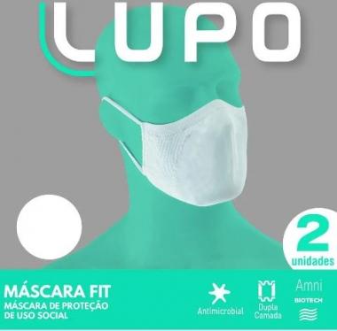 MÁSCARA LUPO BRANCA TECIDO (C/02 UND) LUPO