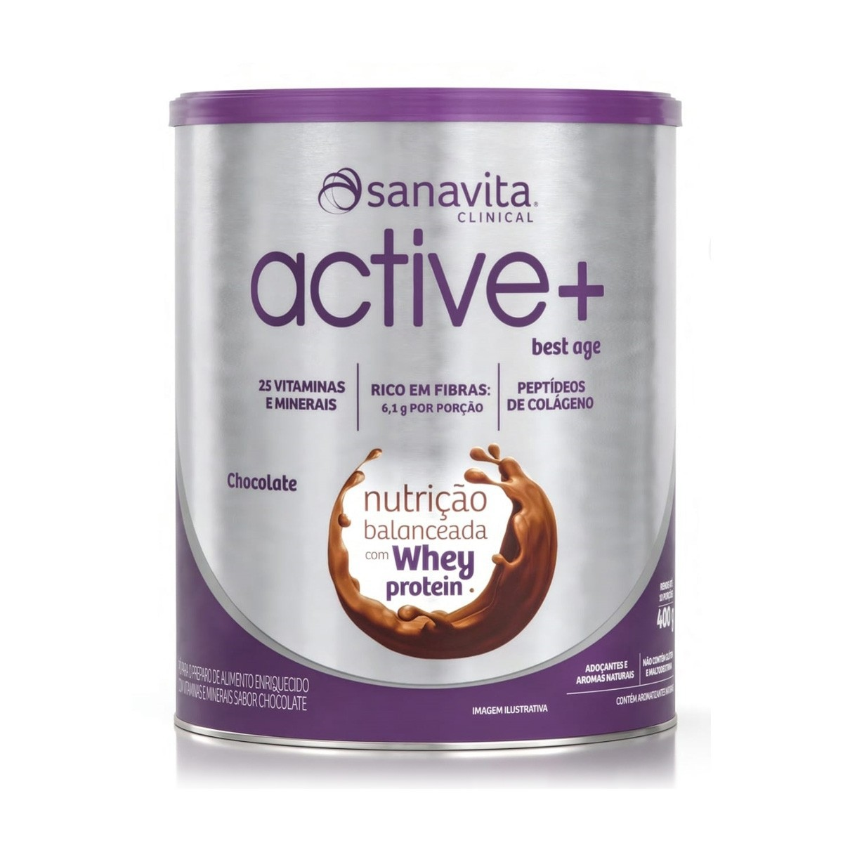 ACTIVE+ CHOCOLATE - LATA 400G