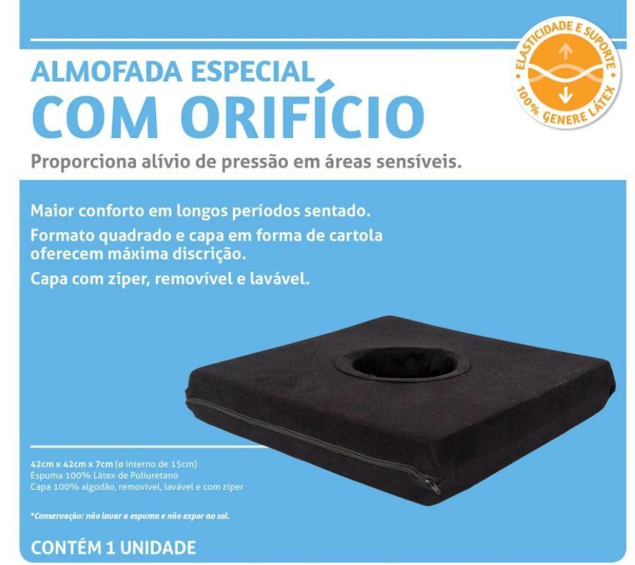 ALMOFADA ESPECIAL QUADRADA COM ORIFÍCIO - PERFETTO