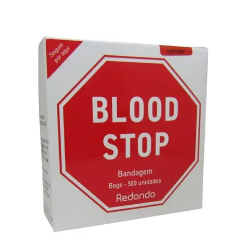 BANDAGEM BLOOD STOP CONTÍNUO 500 BEGE (C/500) - AMP