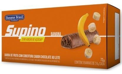 BARRA SUPINO ZERO CHOCOLATE AO LEITE 24G - BANANA BRASIL