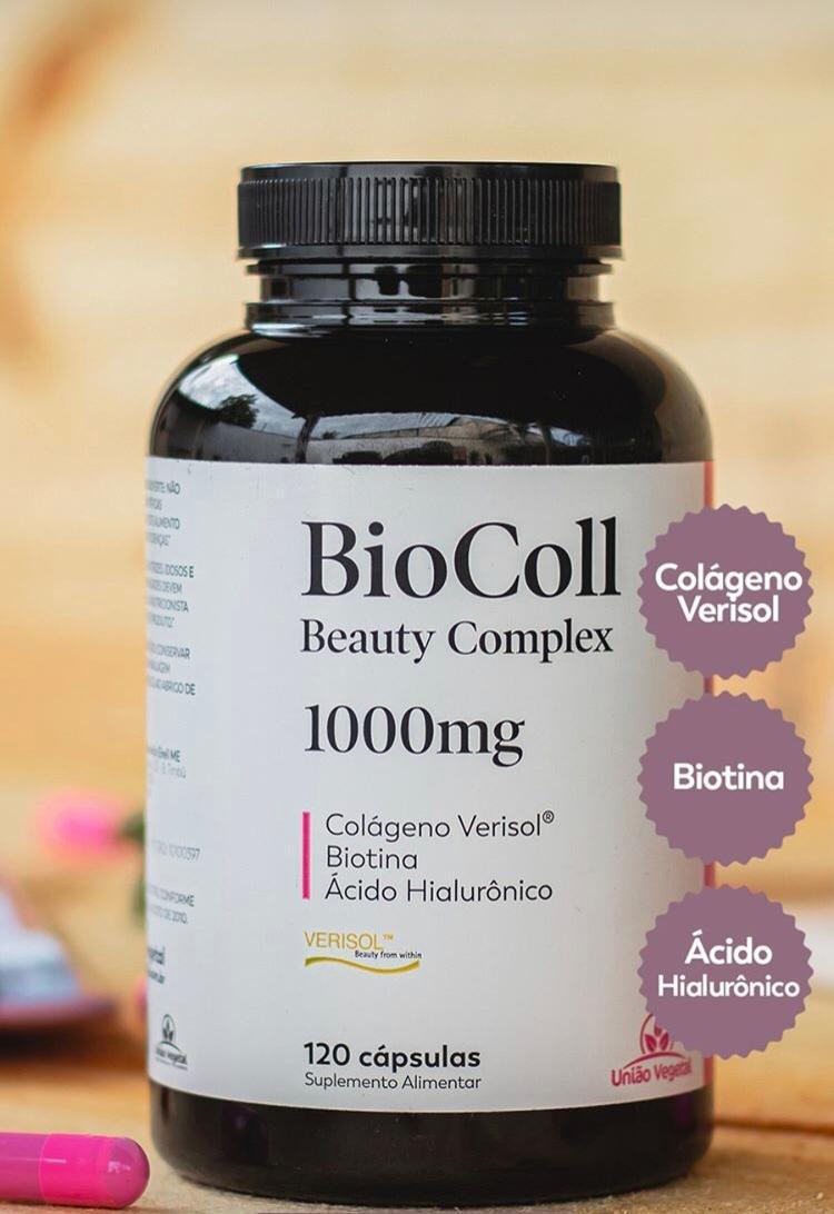 BioColl colágeno verisol 120 cápsulas- União Vegetal