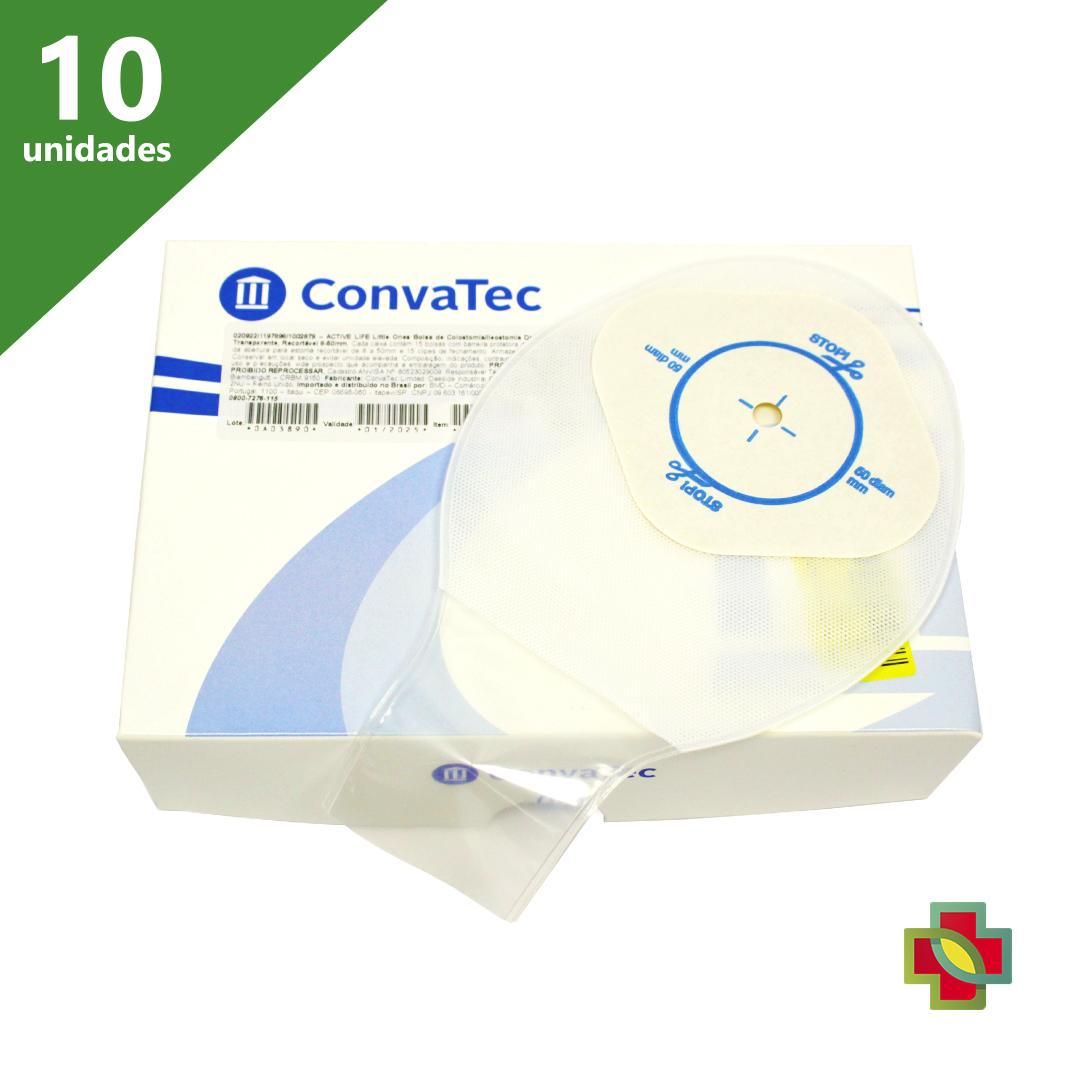 BOLSA DE COLOSTOMIA ACTIVE LIFE INFANTIL TRANSP 8-50 MM (C/10 UND.) 20922 - CONVATEC