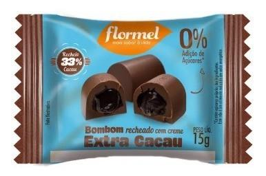 BOMBOM CACAU EXTRA ZERO 15G -FLORMEL
