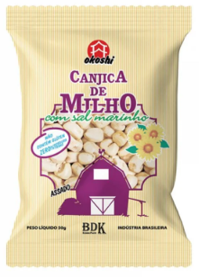 CANJICA DE MILHO C/SAL OKOSHI PC.C/50G - OKOSHI