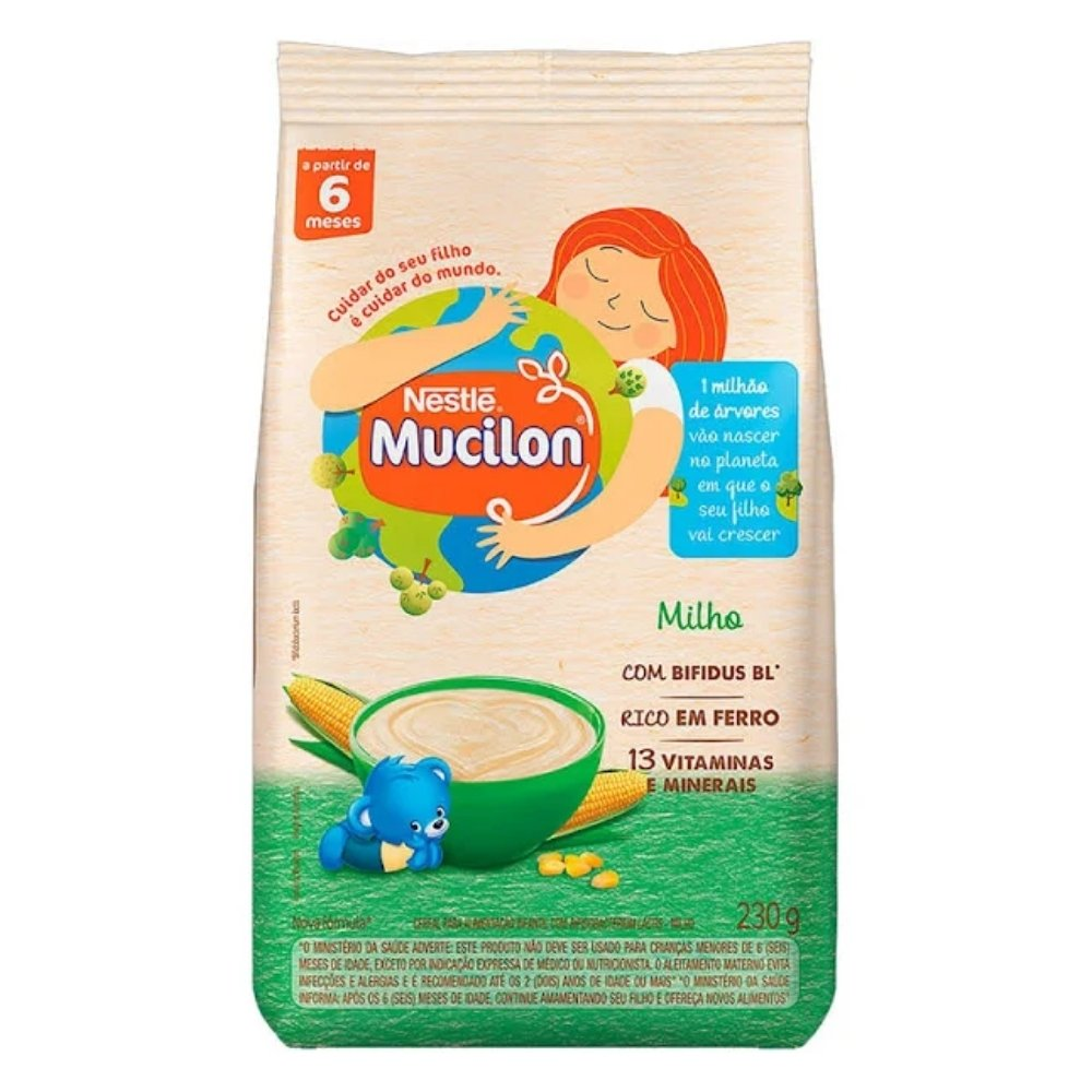 CEREAIS INFANTIL NESTLÉ MUCILON MILHO EM PACOTE 230 G