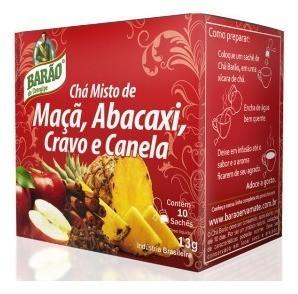CHÁ MAÇA, ABACAXI CRAVO E CANELA13G - BARAO