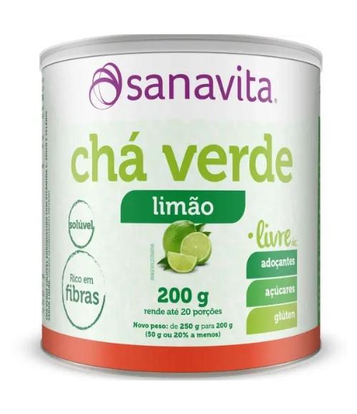 CHÁ VERDE LIVRE LIMÃO 200G - SANAVITA