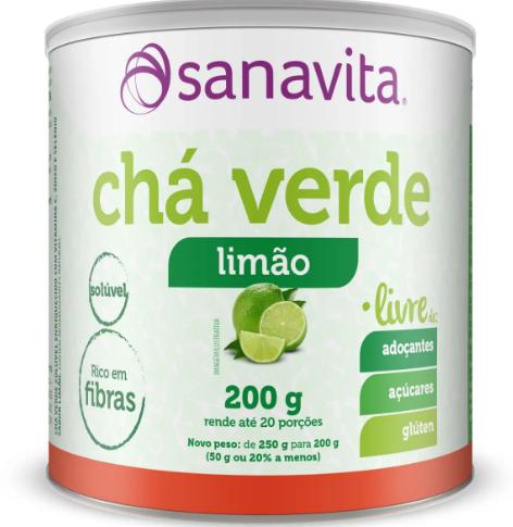 CHA VERDE LIVRE LIMAO 200G - SANAVITA