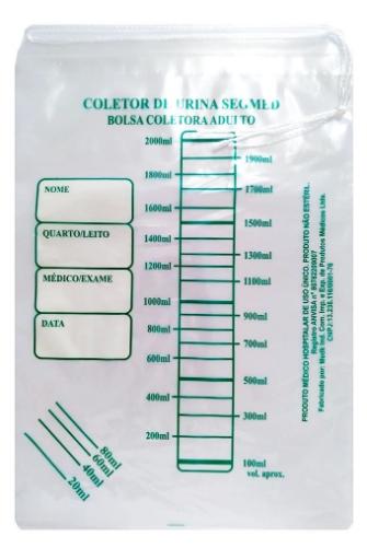 COLETOR URINA ADULTO 02 LTS (SACO) SEGMED