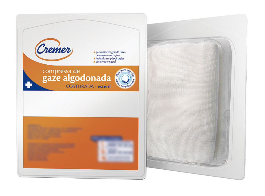 COMPRESSA DE GAZE ALGODONADA ESTÉRIL 10 X 15 CREMER
