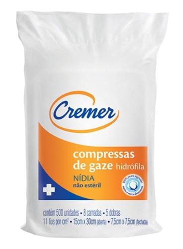 COMPRESSA GAZE 7,5X7,5 C/500 11F NIDIA