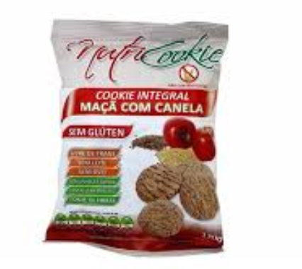 COOKIES INTEGRAL MAÇÃ COM CANELA 120G - NUTRI COOKIE