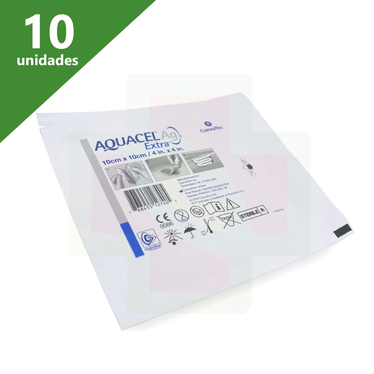 CURATIVO AQUACEL AG EXTRA 10 X 10 (CX C/10 UNDS) - CONVATEC