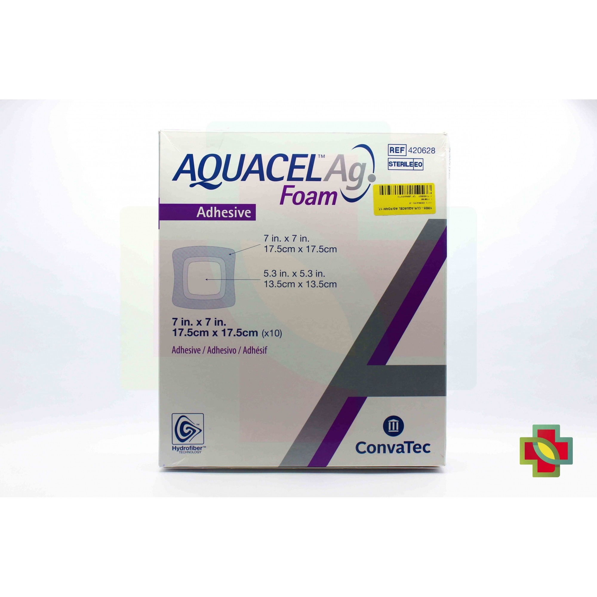 CURATIVO AQUACEL AG FOAM 17,5 X 17,5 CM UND 420628 CONVATEC