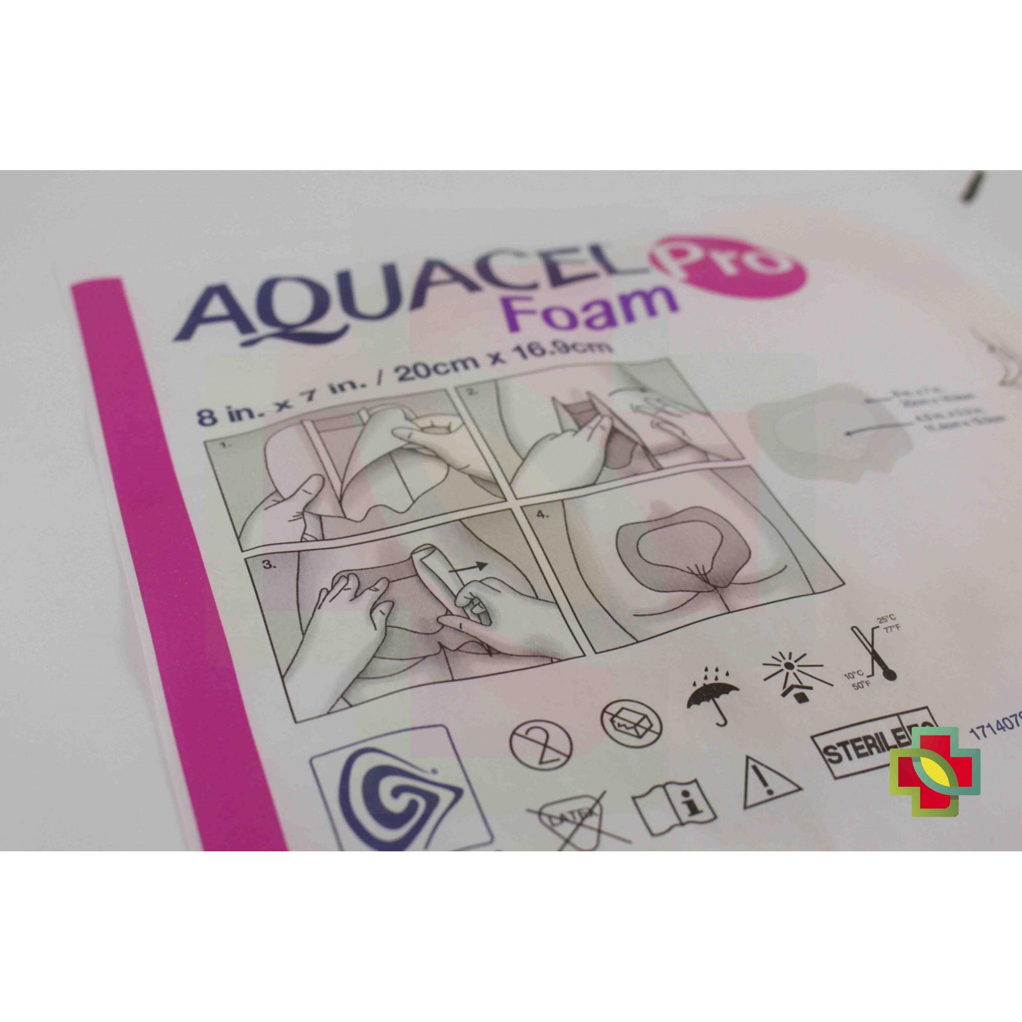 CURATIVO AQUACEL FOAM PRO 20 X 16,9 CM (UND) 421579 - CONVATEC