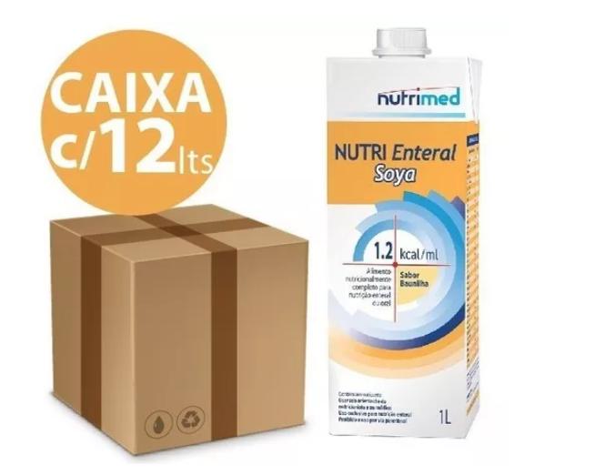 CX COM 12 NUTRI ENTERAL SOYA - 1 LITRO CADA . 1,2 KCAL/ML