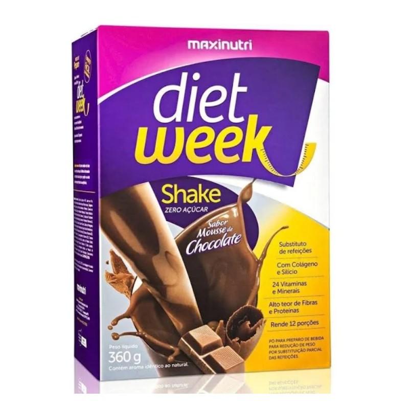 DIET WEEK SHAKE MUSSE DE CHOCOLATE 360G - MAXINUTRI