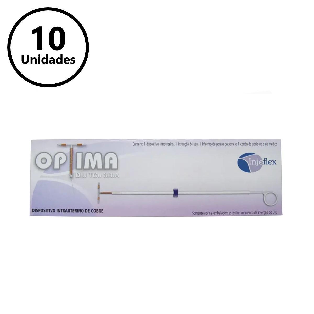 DIU DISPOSITIVO INTRA-UTERINO T DE COBRE TCU 380A (C/10 UNDS) - OPTIMA