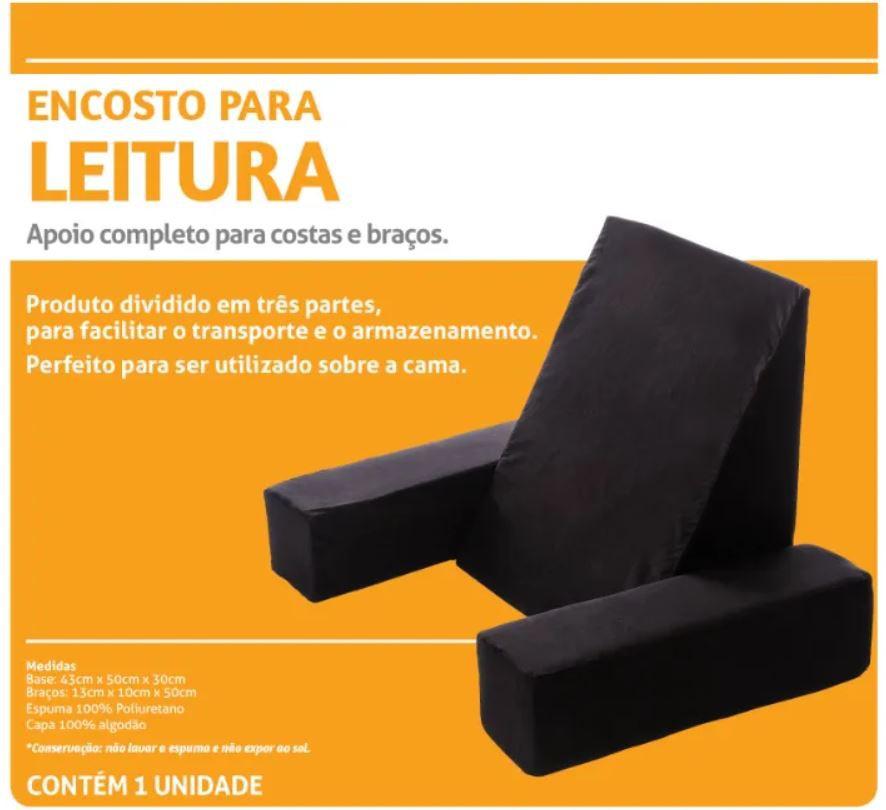 ENCOSTO PARA LEITURA COR PRETA - PERFETTO