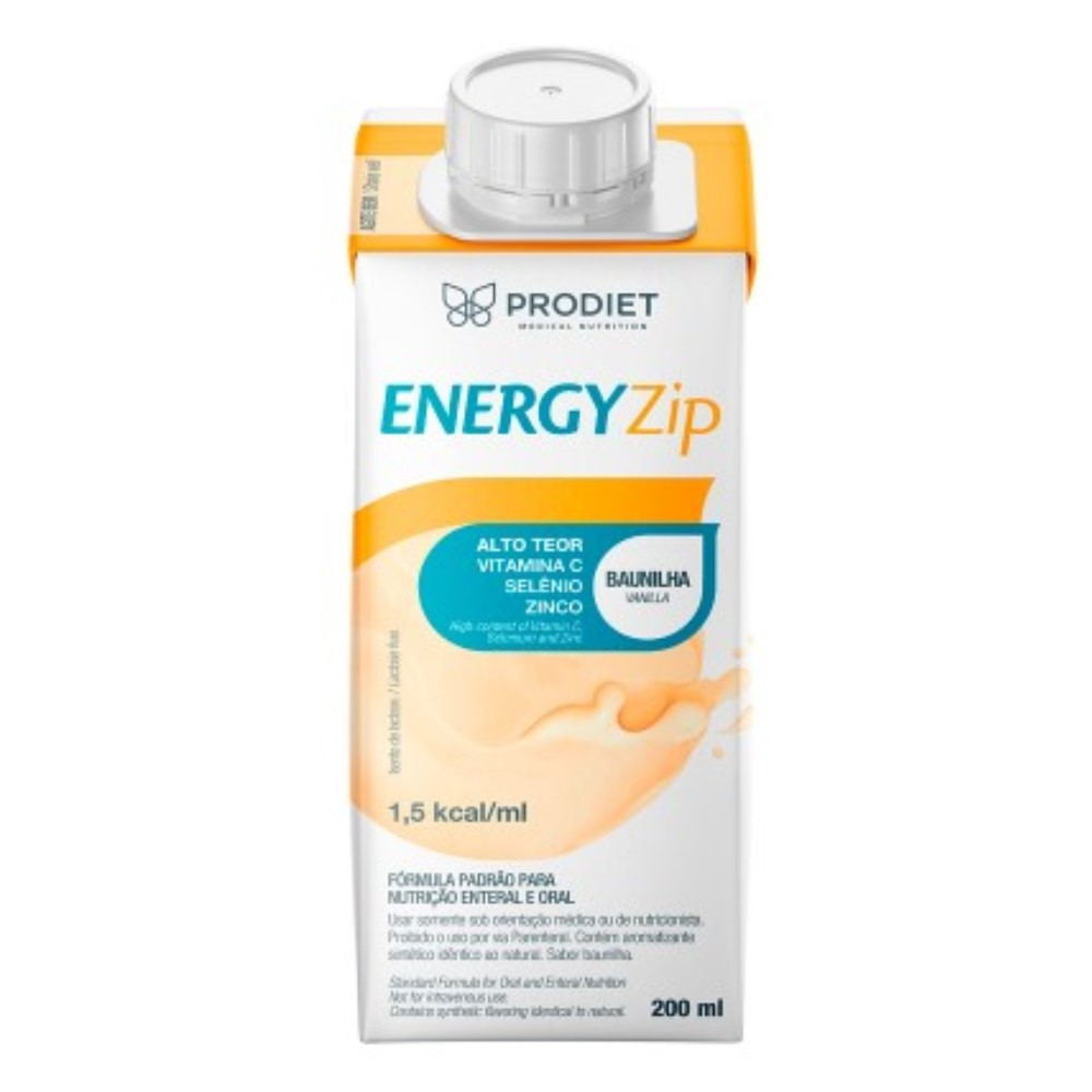 ENERGYZIP 200ML BAUNILHA - PRODIET