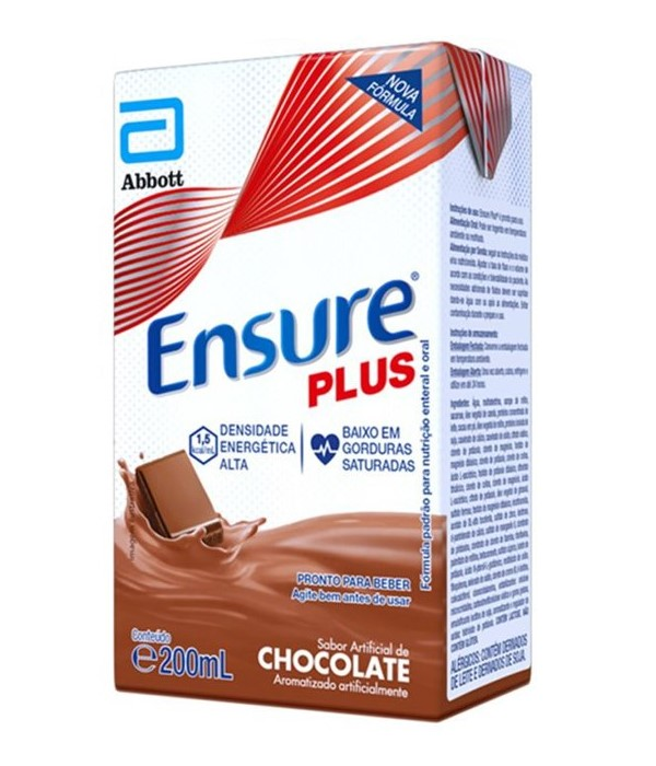 ENSURE PLUS CHOCOLATE TETRAPACK 200ML -  ABBOT
