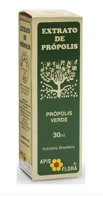 EXTRATO DE PROPOLIS VERDE 30ML (CX C/6 UNDS) - APIS FLORA