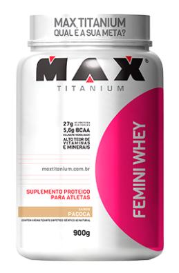 FEMINI WHEY 900G PACOCA - MAX TITANIUM