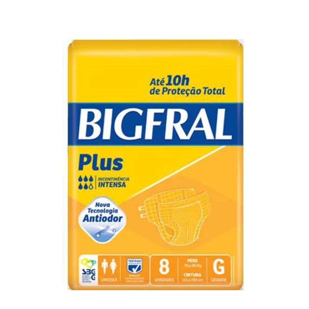 FRALDA GERIÁTRICA BIGFRAL PLUS TAM. G (C/ 08) - BIGFRAL