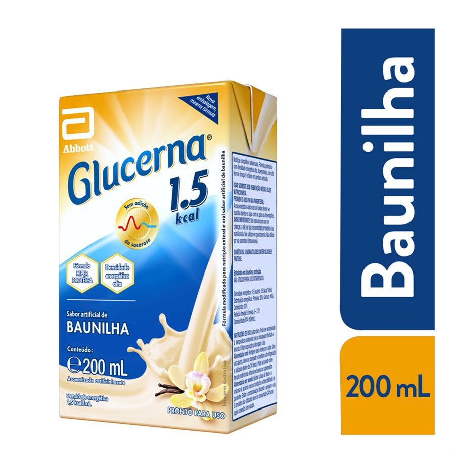 GLUCERNA 1.5 KCAL SABOR BAUNILHA 200ML - ABBOTT