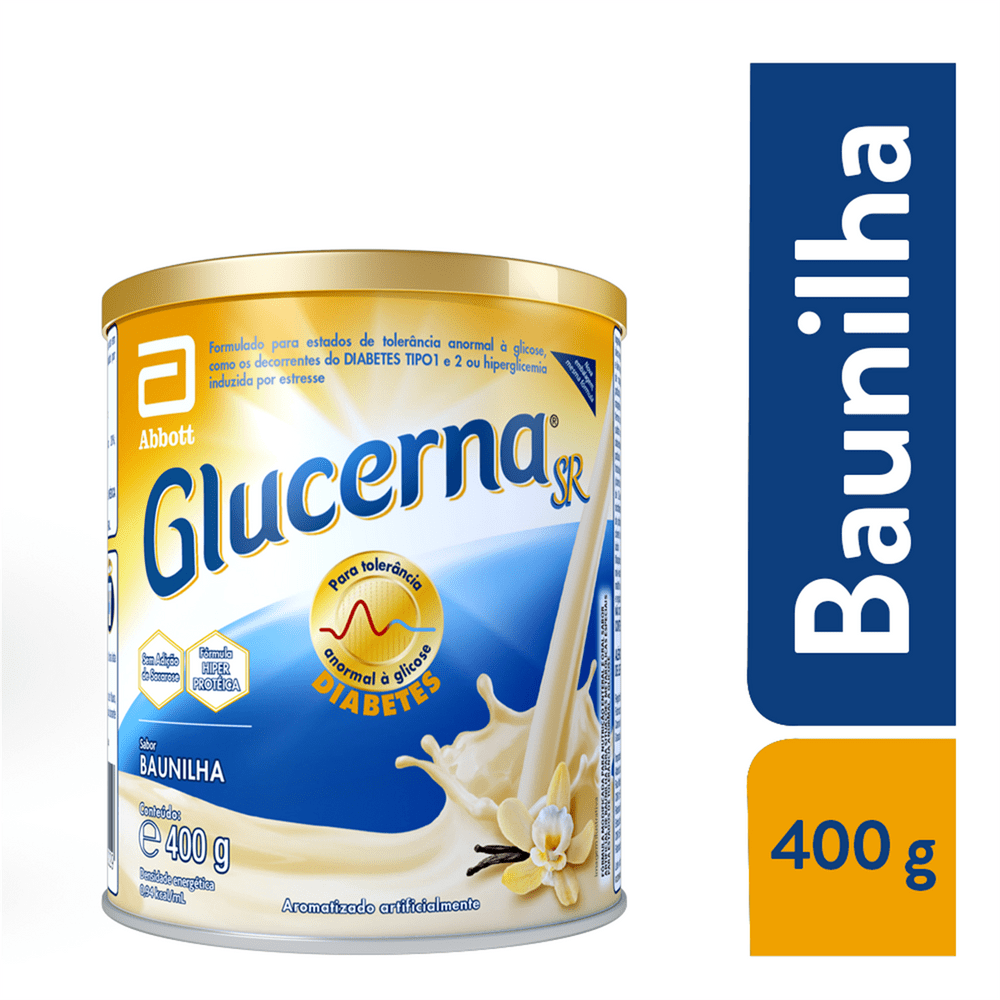 GLUCERNA SR BAUNILHA 400G (KIT C/02 UNDS) - ABBOTT