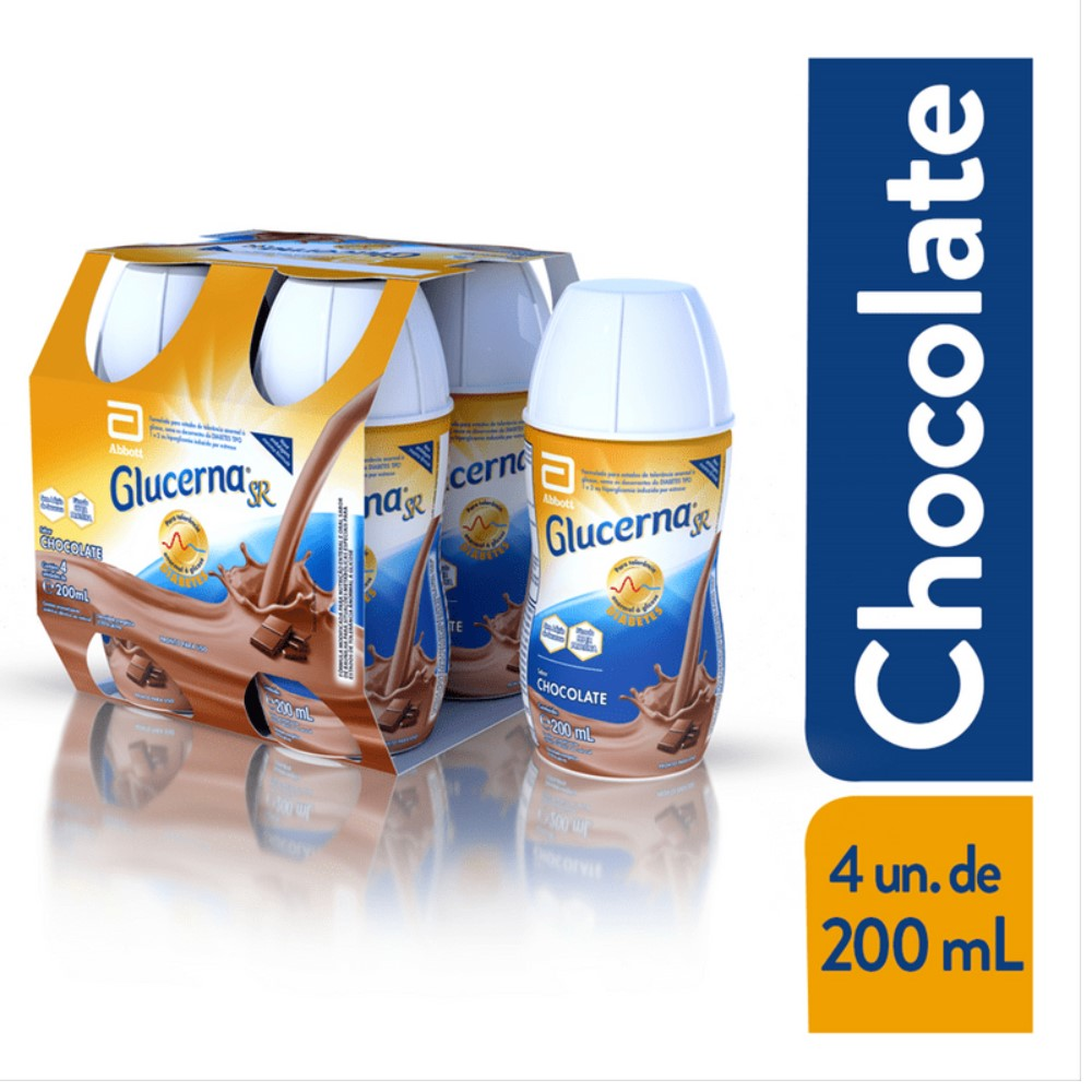 GLUCERNA SR CHOCOLATE 200ML (CX C/4) - ABBOTT