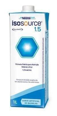 ISOSOURCE 1.5KCAL/ML 1L (CX C/12 LITROS) - NESTLÉ