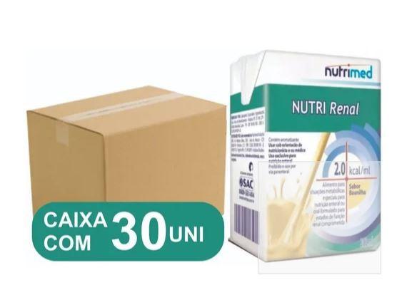 KIT 30 UNIDADES NUTRI RENAL 2.0 BAUNILHA TP 200ML - NUTRIMED