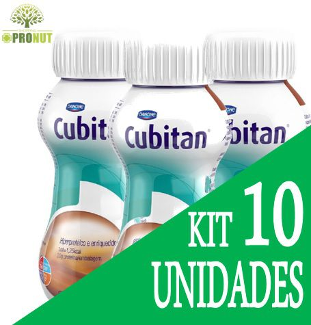 KIT C/10 CUBITAN CHOCOLATE 200ML - DANONE