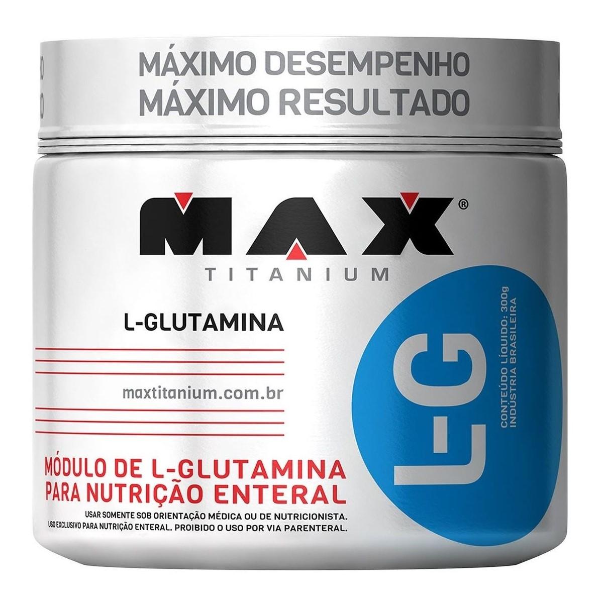 LG GLUTAMINA 300G - MAX TITANIUM