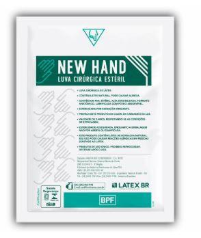 LUVA CIRÚRGICA ESTÉRIL LÁTEX (CX C/100 UNDS) - NEW HAND