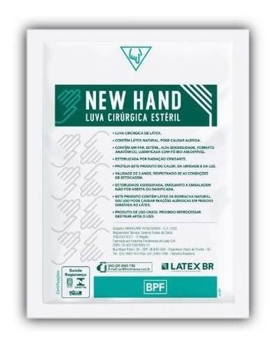 LUVA CIRÚRGICA ESTÉRIL LÁTEX (CX C/50 UNDS) - NEW HAND