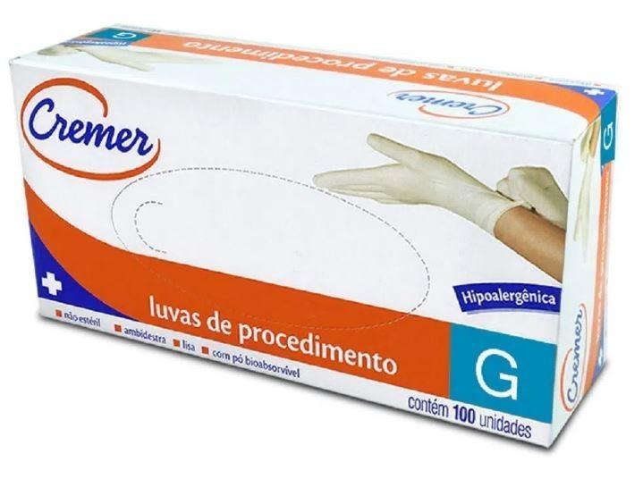 LUVA DE PROCEDIMENTO LATEX P C/1.200  - CREMER