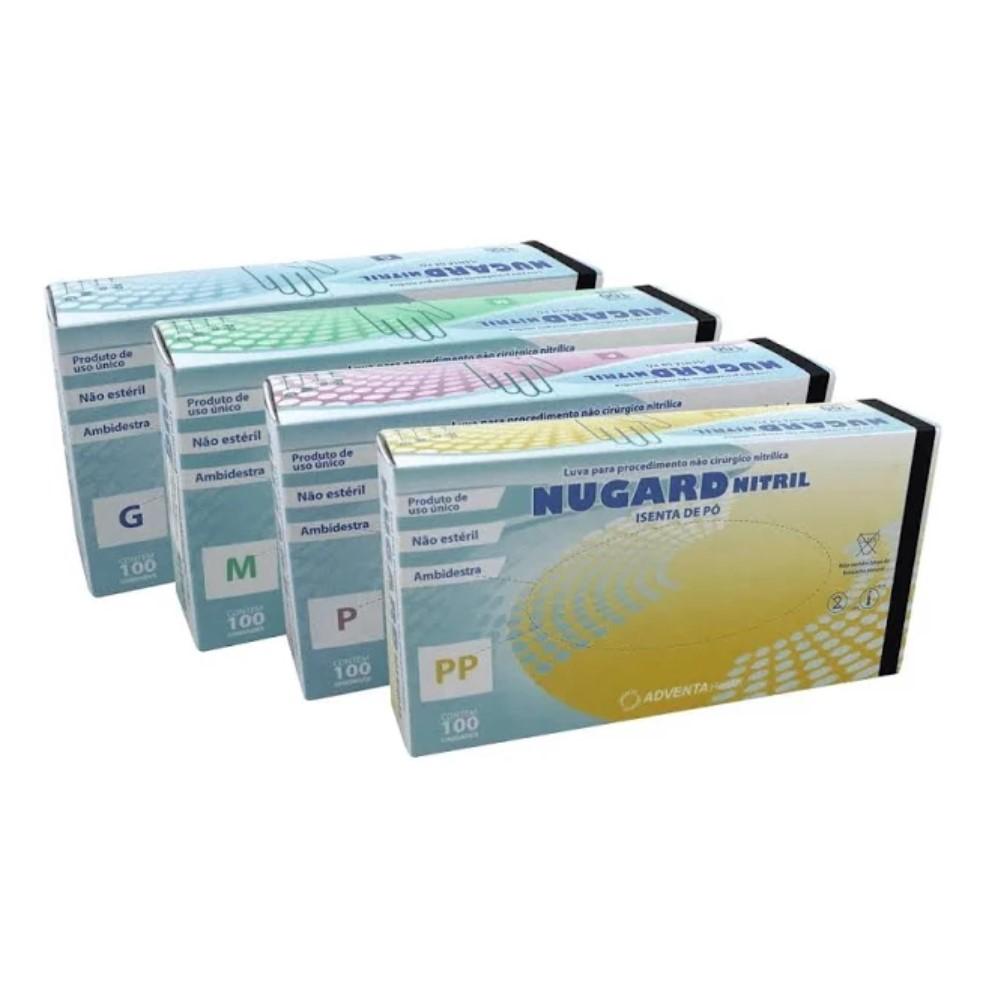 LUVA DE PROCEDIMENTO NITRÍLICA PRETA  SEM PÓ (CX C/100 UNDS) - NUGARD