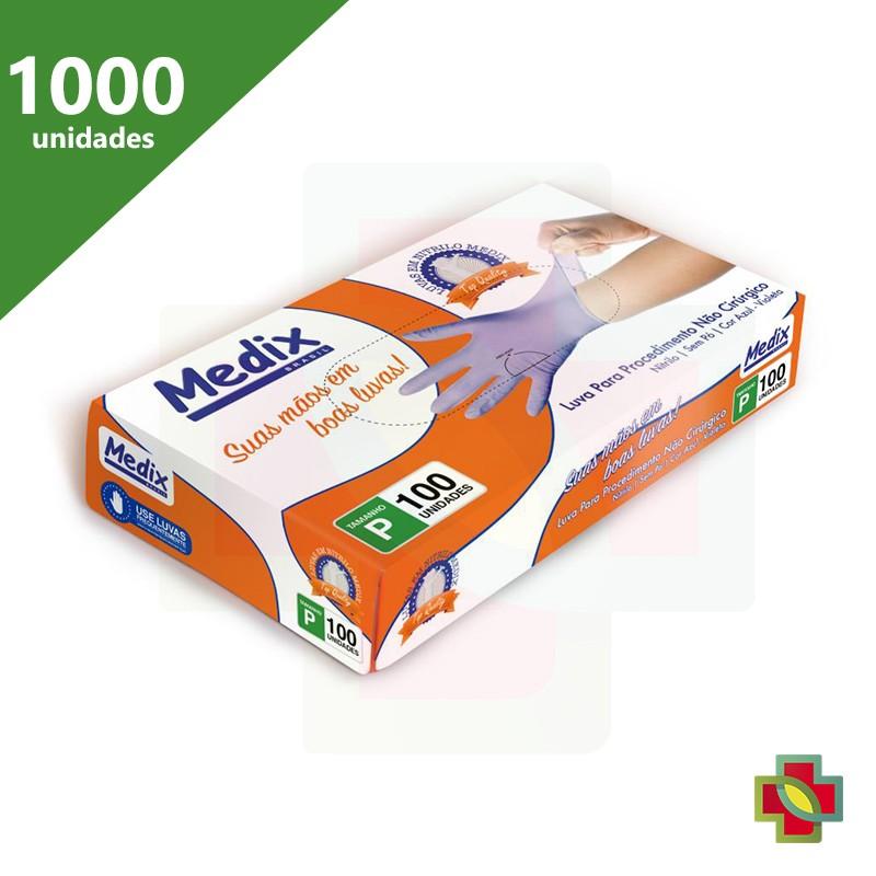 LUVA DE PROCEDIMENTO NITRÍLICA S/PÓ AZUL VIOLETA (C/1000 UNDS) - MEDIX