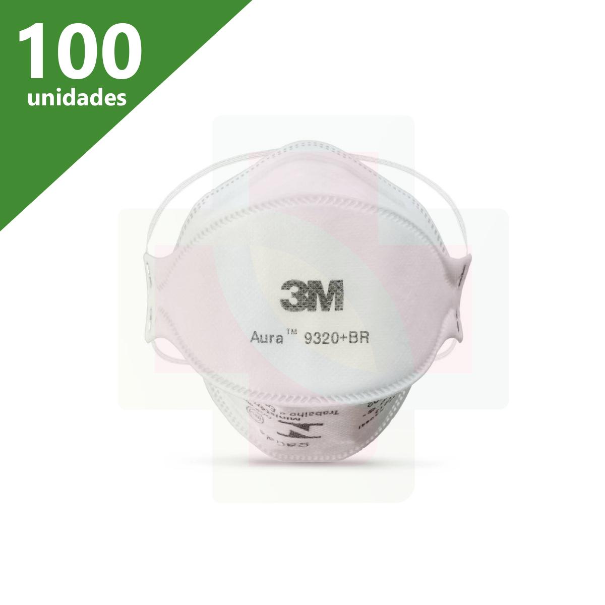 MÁSCARA DE PROTEÇÃO PFF2 AURA 9320+BR (KIT C/100 UNDS) - 3M